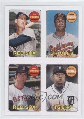 2013 Topps Archives 1969 4-In-1 Stickers #69S-WRYC - Ted Williams, Frank Robinson, Carl Yastrzemski, Miguel Cabrera
