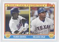 Ruben Sierra, Nelson Cruz