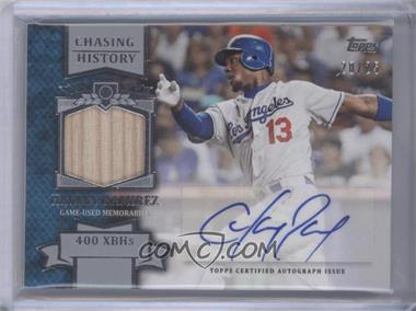 2013 Topps Chasing History Autograph Relics #CHAR-HR - Hanley Ramirez /25