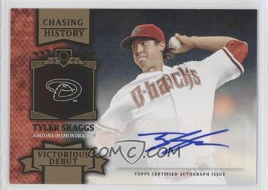 2013 Topps Chasing History Autographs Gold #CHA-TS - Tyler Skaggs /10