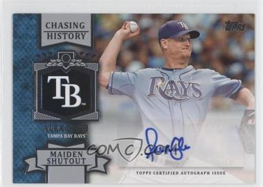 2013 Topps Chasing History Autographs #CHA-AC - Alex Cobb