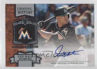 2013 Topps Chasing History Autographs #CHA-GST - Giancarlo Stanton