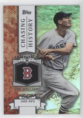 2013 Topps Chasing History Holo-Foil #CH-33 - Ted Williams