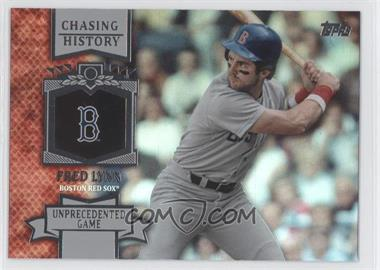 2013 Topps Chasing History Holo-Foil #CH-59 - Fred Lynn