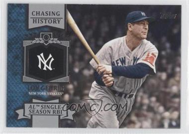 2013 Topps Chasing History #CH-10 - Lou Gehrig
