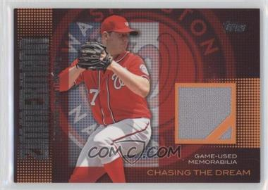 2013 Topps Chasing The Dream Relics #CDR-JZ - Jordan Zimmermann