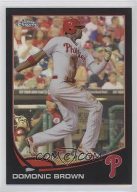 2013 Topps Chrome - [Base] - Black Refractor #215 - Domonic Brown /100