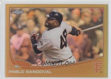 2013 Topps Chrome - [Base] - Gold Refractor #216 - Pablo Sandoval /50