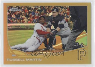2013 Topps Chrome - [Base] - Gold Refractor #89 - Russell Martin /50