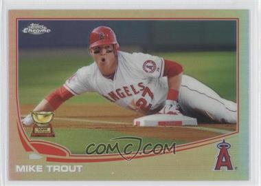 2013 Topps Chrome - [Base] - Refractor #1 - Mike Trout