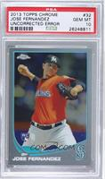 Jose Fernandez (Mariners Logo Incorrectly Pictured) [PSA 10]