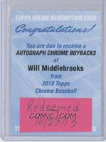 Will Middlebrooks [REDEMPTION Being Redeemed]