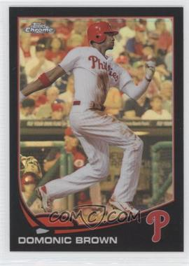 2013 Topps Chrome Black Refractor #215 - Domonic Brown /100