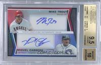 Mike Trout, Miguel Cabrera /10 [BGS 9.5]