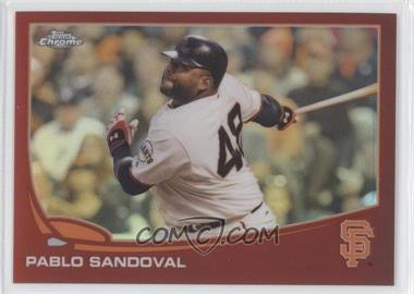 2013 Topps Chrome Red Refractor #216 - Pablo Sandoval /25