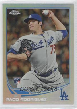2013 Topps Chrome Refractor #182 - Paco Rodriguez