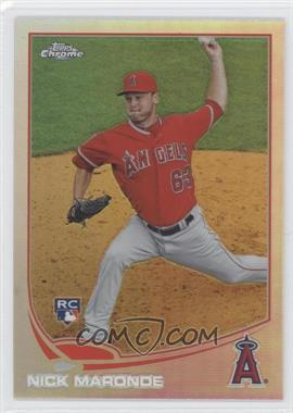 2013 Topps Chrome Refractor #24 - Nick Maronde