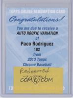Paco Rodriguez [REDEMPTIONBeingRedeemed]
