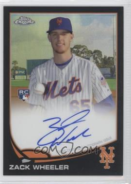 2013 Topps Chrome Rookie Certified Autographs Black Refractor [Autographed] #ZW - Zack Wheeler /100