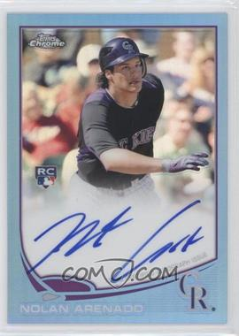 2013 Topps Chrome Rookie Certified Autographs Blue Refractor [Autographed] #78 - Nolan Arenado /199