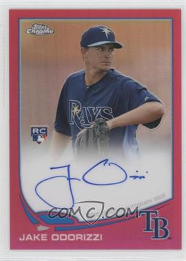2013 Topps Chrome Rookie Certified Autographs Pink Refractor [Autographed] #192 - Jake Odorizzi /5