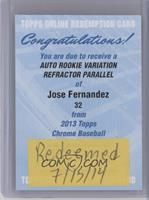Jose Fernandez /499 [REDEMPTION Being Redeemed]