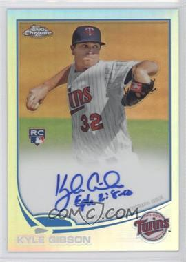 2013 Topps Chrome Rookie Certified Autographs Refractor [Autographed] #KG - Kyle Gibson /499