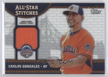 2013 Topps Chrome Update - All-Star Stitches #ASR-CG - Carlos Gonzalez