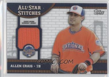 2013 Topps Chrome Update Series All-Star Stitches #ASR-AC - Allen Craig