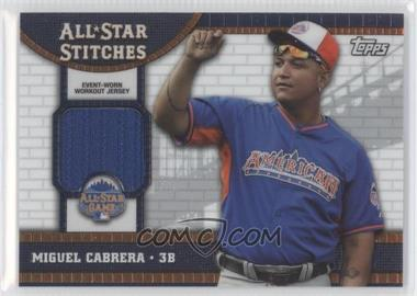 2013 Topps Chrome Update Series All-Star Stitches #ASR-MC - Miguel Cabrera