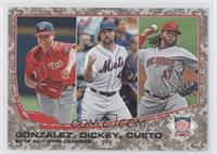 2012 NL Wins Leaders (Gio Gonzalez, R.A. Dickey, Johnny Cueto) /99