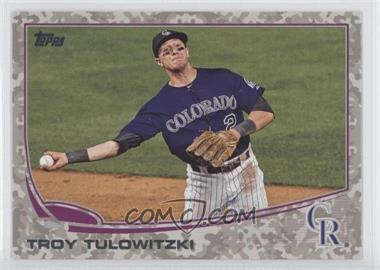 2013 Topps Desert Camo Foil #453 - Troy Tulowitzki /99