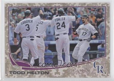 2013 Topps Desert Camo Foil #532 - Todd Helton /99