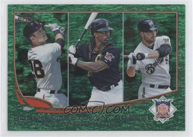 2013 Topps Emerald Foil #189 - 2012 NL Batting Average Leaders (Buster Posey, Andrew McCutchen, Ryan Braun)