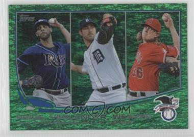 2013 Topps Emerald Foil #94 - AL Earned Run Average Leaders (David Price, Justin Verlander, Jered Weaver)