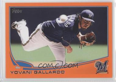 2013 Topps Factory Set [Base] Orange #149 - Yovani Gallardo /230