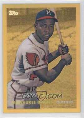 2013 Topps Factory Set Hank Aaron Chrome Reprints Gold #HA-2 - Hank Aaron
