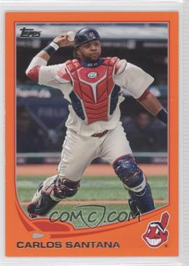 2013 Topps Factory Set Orange #141 - Carlos Santana /230