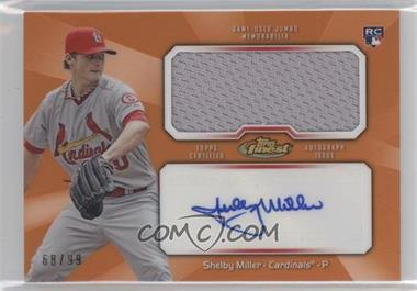 2013 Topps Finest - Autograph Jumbo Relic Rookie Refractor - Orange #AJR-SM - Shelby Miller /99