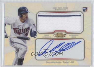 2013 Topps Finest - Autograph Jumbo Relic Rookie Refractor #AJR-OA - Oswaldo Arcia
