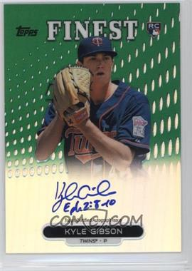 2013 Topps Finest - Autograph Rookie Refractor - Green #RA-KG - Kyle Gibson /125