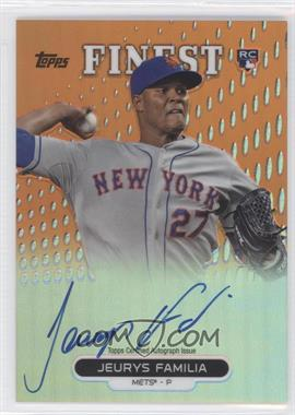 2013 Topps Finest - Autograph Rookie Refractor - Orange #RA-JF - Jeurys Familia /99