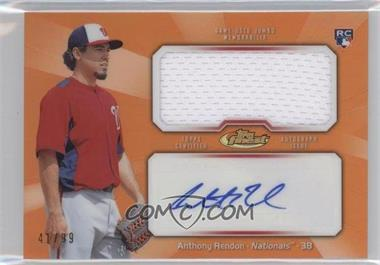 2013 Topps Finest Autographed Jumbo Relic Rookies Orange Refractor [Autographed] #AJR-AR - Anthony Rendon /99