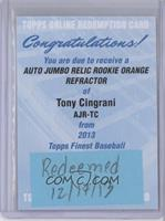 Tony Cingrani /99 [REDEMPTION Being Redeemed]