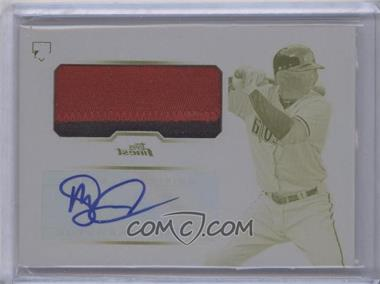 2013 Topps Finest Autographed Jumbo Relic Rookies Printing Plate Yellow [Autographed] #DG - Didi Gregorius /1