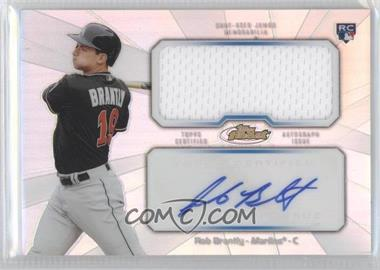 2013 Topps Finest Autographed Jumbo Relic Rookies Refractor [Autographed] #AJR-RB - Rob Brantly