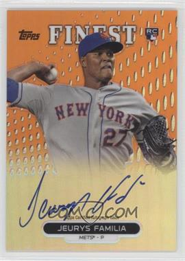 2013 Topps Finest Autographed Rookies Orange Refractor [Autographed] #RA-JF - Jeurys Familia /99
