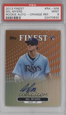 2013 Topps Finest Autographed Rookies Orange Refractor [Autographed] #RA-WM - Wil Myers /99 [PSA9]