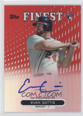 2013 Topps Finest Autographed Rookies Red Refractor #RA-EG - Evan Gattis /25