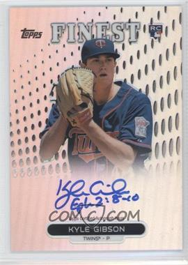 2013 Topps Finest Autographed Rookies Refractor #RA-KG - Kyle Gibson